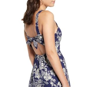 NWT Blue Print Tie Back Maxi Dress